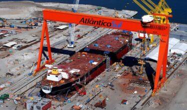 Construção naval - navios - Atlântico Sul - estaleiro